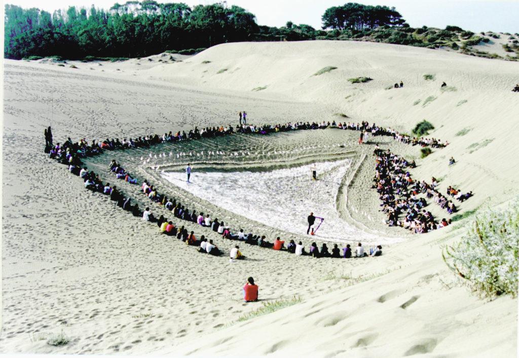 Alumnos en la duna, Ciudad Abierta.